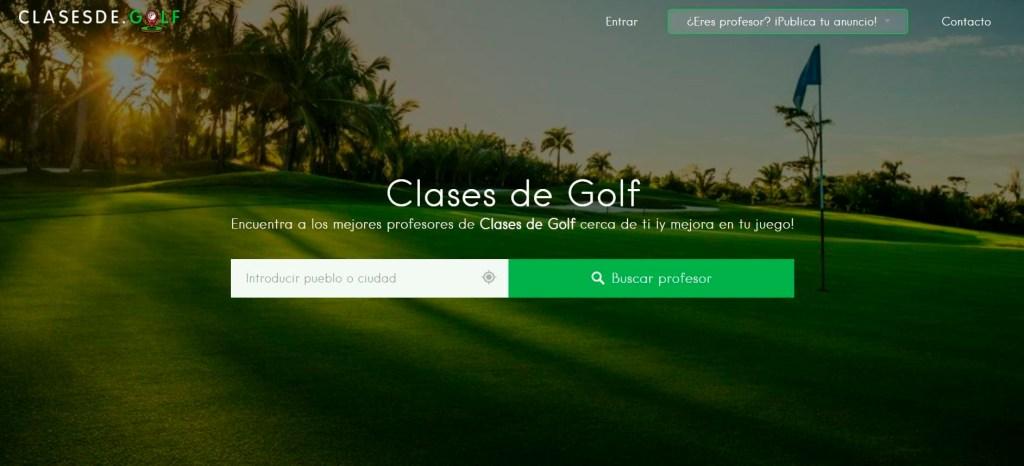 Clases de golf Pantallazo.
