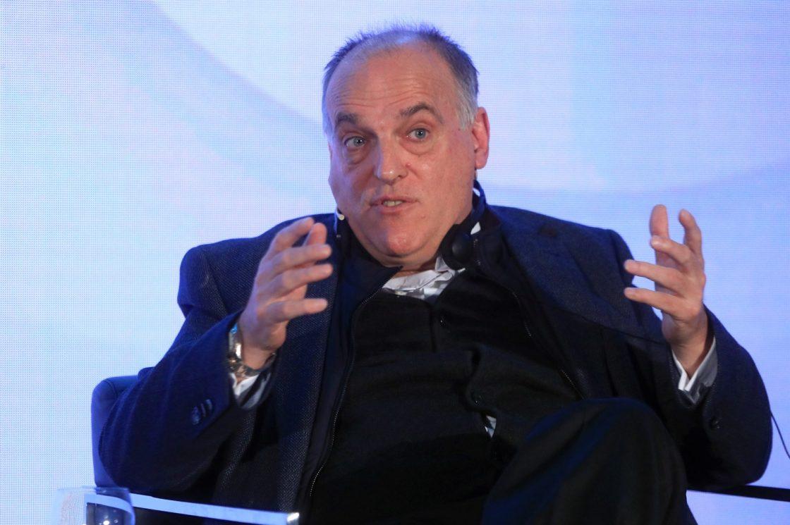 El presidende de LaLiga, Javier Tebas. EFE/Fernando Alvarado/Archivo
