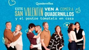 Gráfica publicitaria de la campaña de Quadernillos en San Valentín.