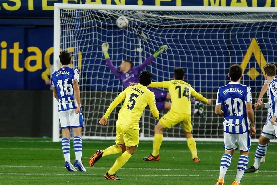 Partido de Liga, correspondiente a la jornada 21 del campeonato español, entre el Villarreal y la Real Sociedad. EFE/Domenech Castelló