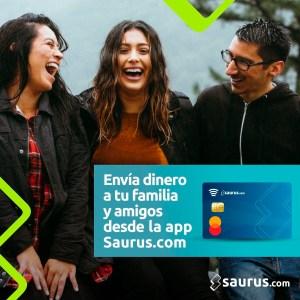 Con Saurus.com puedes enviar dinero a tus seres cercanos