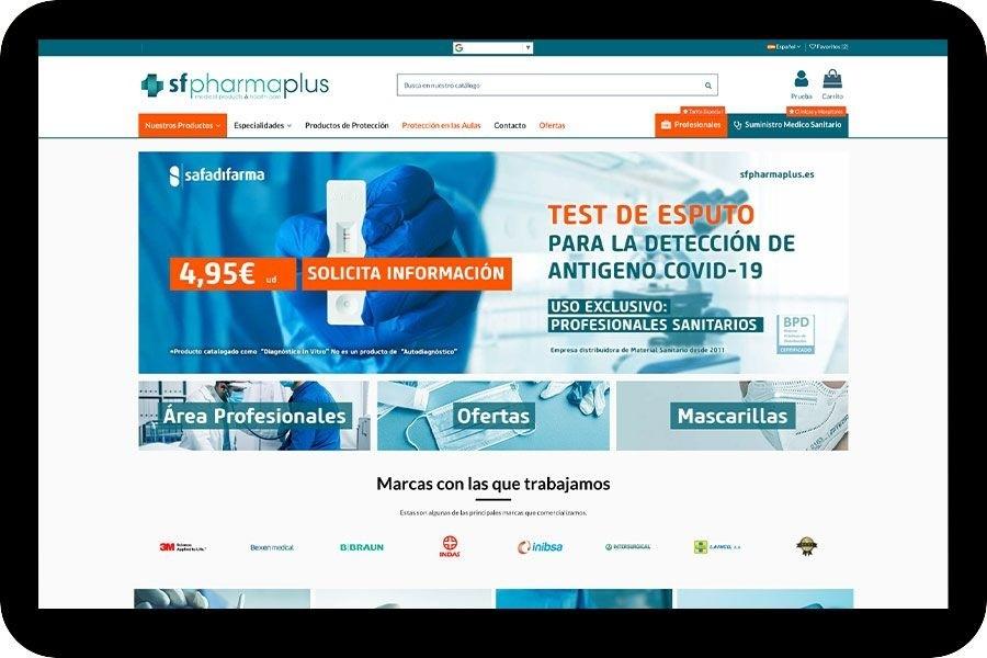 La web sfpharmaplus.com pemite la compra online de los nuevos test rápidos de antígenos