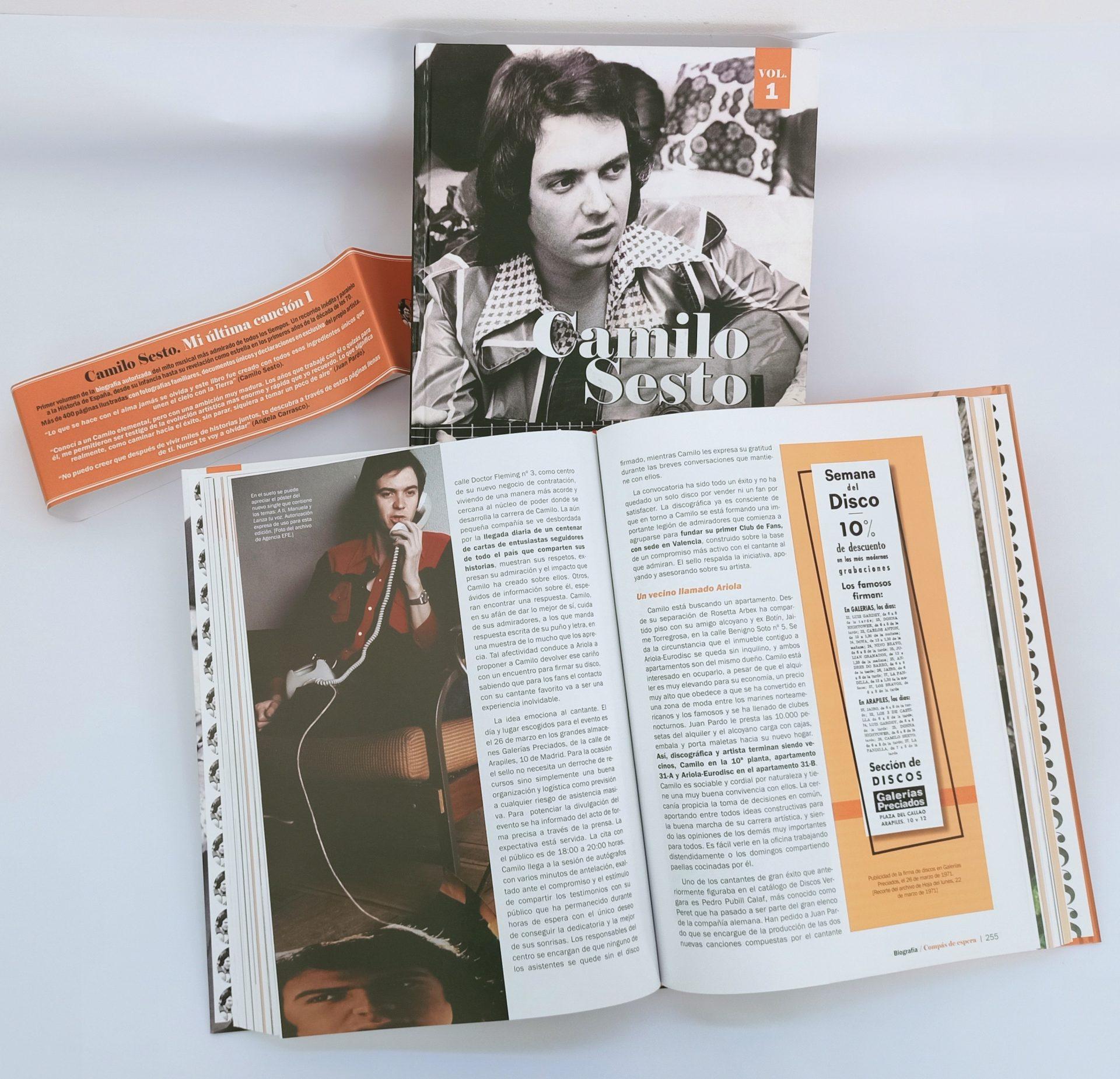 """Imagen de la biografía sobre el artista Camilo Sesto, """"Mi última canción""""."""