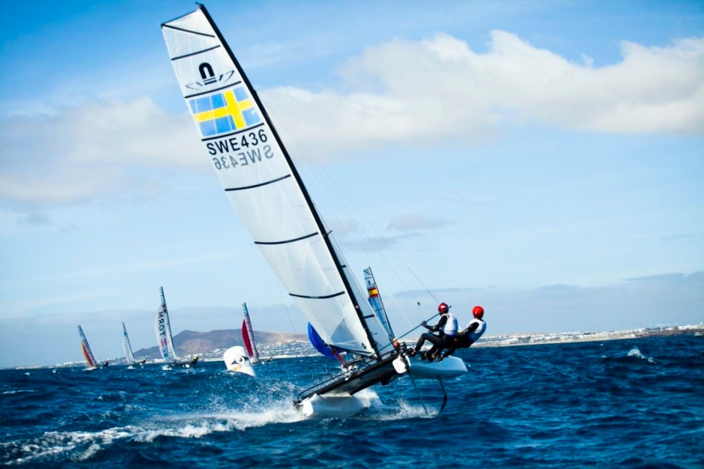 Nacra 17: el catamarán volador Modalidad olímpica obligatoriamente mixta.Solo 20 países del mundo tendrán pase olímpico.