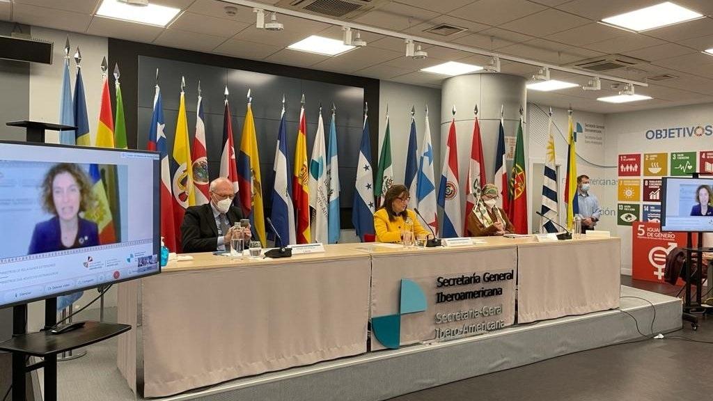 Cancilleres iberoamericanos reafirman su compromiso con el multilateralismo y preparan la XXVII Cumbre Iberoamericana.