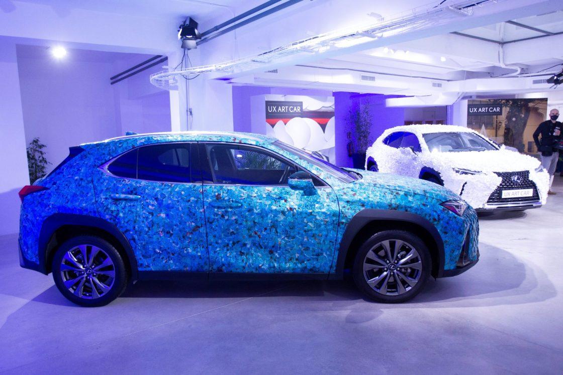 Los vehículos 'Gyorin Kozane' y 'Jardín Zen', ganadores del concurso UX Art Car de Lexus en el certamen europeo de 2019 y en la edición española 2020, respectivamente.