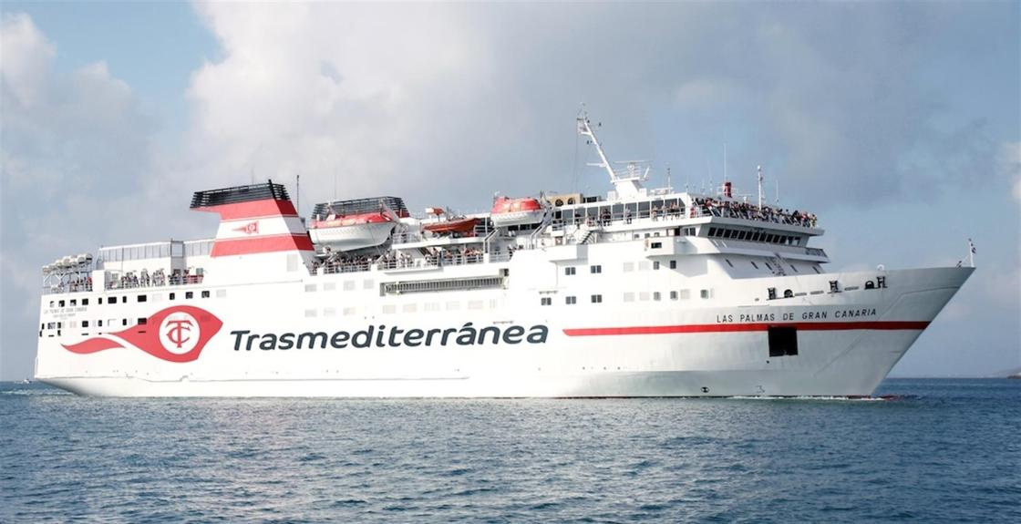 Imagen del ferry de Las Palmas de Gran Canaria de naviera Armas Trasmediterránea
