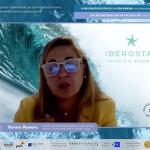 Imagen de la intervención de Soraya Romero, directora de Sostenibilidad de EMEA, Grupo Iberostar.