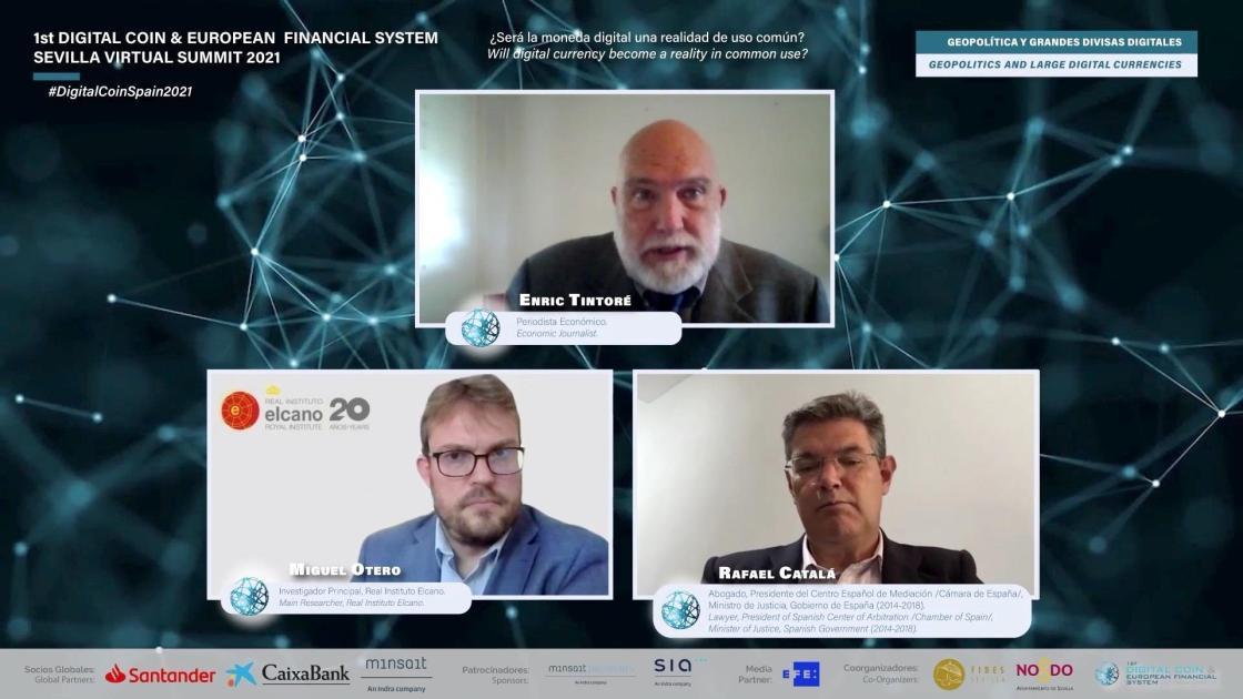 """Exministro Justicia sitúa Europa como """"actor secundario"""" en divisas digitales"""