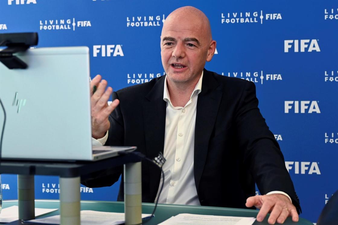 El presidente de la FIFA, Gianni Infantino, interviene en el II Foro EFE Sport Business. EFE/FIFA/Harold Cunningham/Solo uso editorial