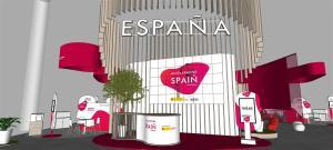 Recreación del pabellón de España en el MWC 2021. EFE/Red.es
