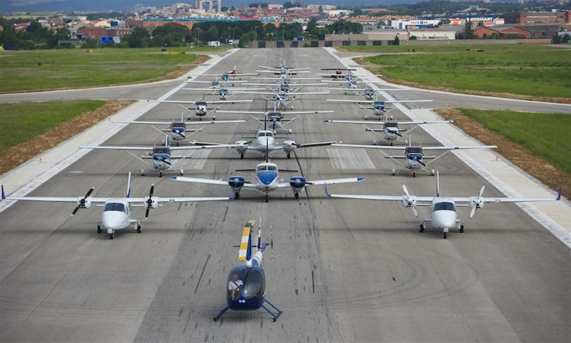 Flota de aeronaves del Aeroclub Barcelona-Sabadell.