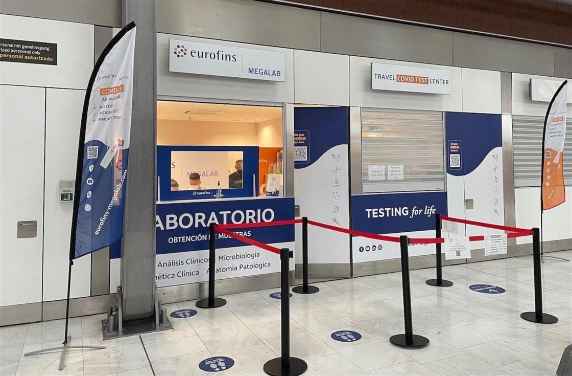 Laboratorio COVID en el aeropuerto de Gran Canaria / Autor: Eurofins Megalab