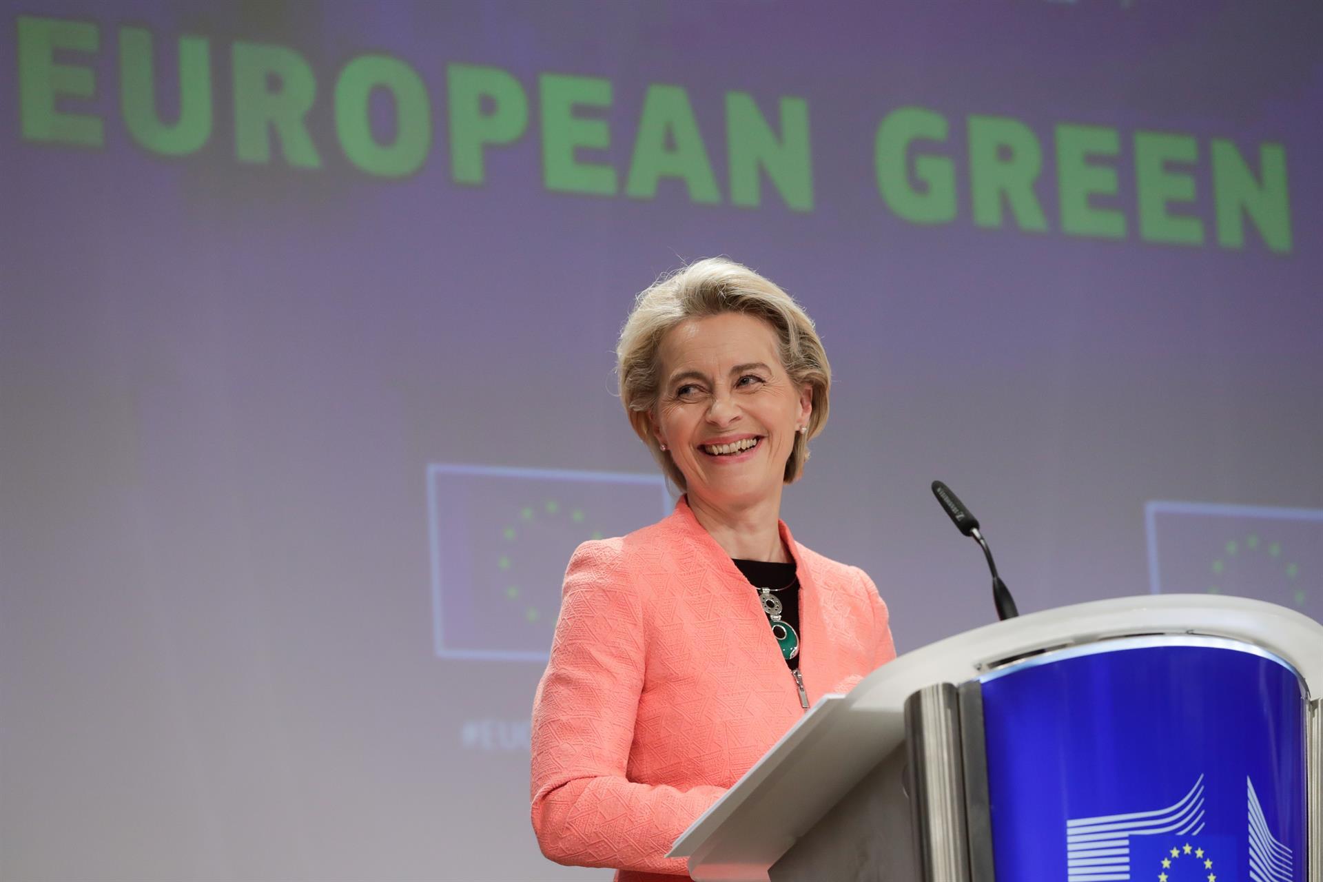 La presidenta de la Comisión Europea Ursula von der Leyen. EFE/EPA/STEPHANIE LECOCQ/Archivo