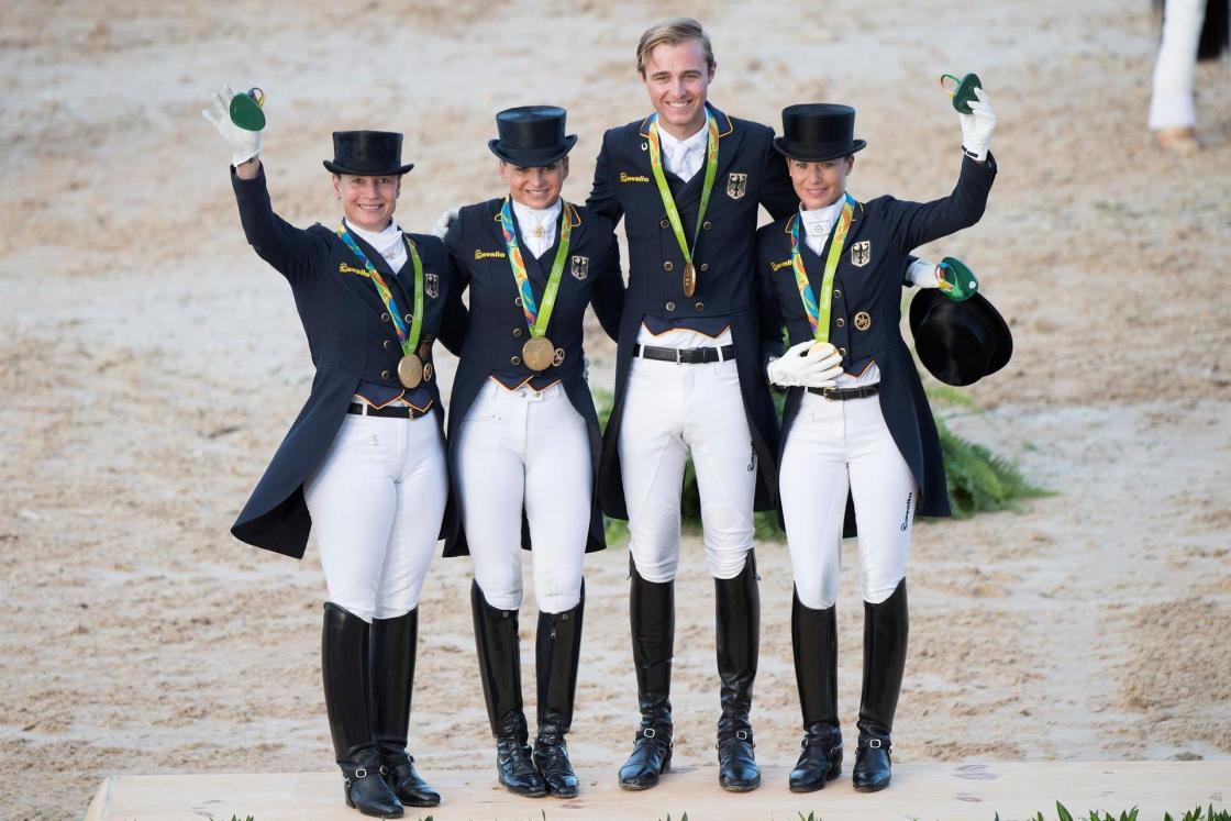 Fotografía del equipo alemán, cedida por la Federación Ecuestre Internacional. FEI.