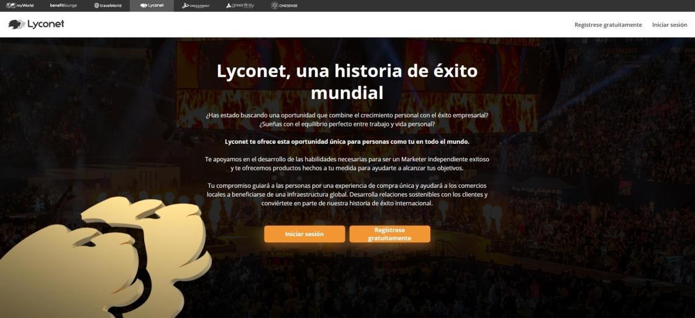 Web Lyconet.