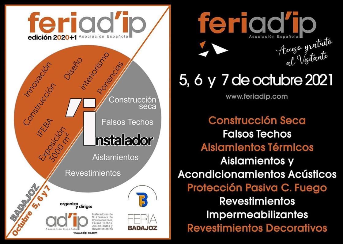 FERIAD'IP, días 5, 6 y 7 de octubre en IFEBA - BADAJOZ / Autor: AD'IP Asociación Española