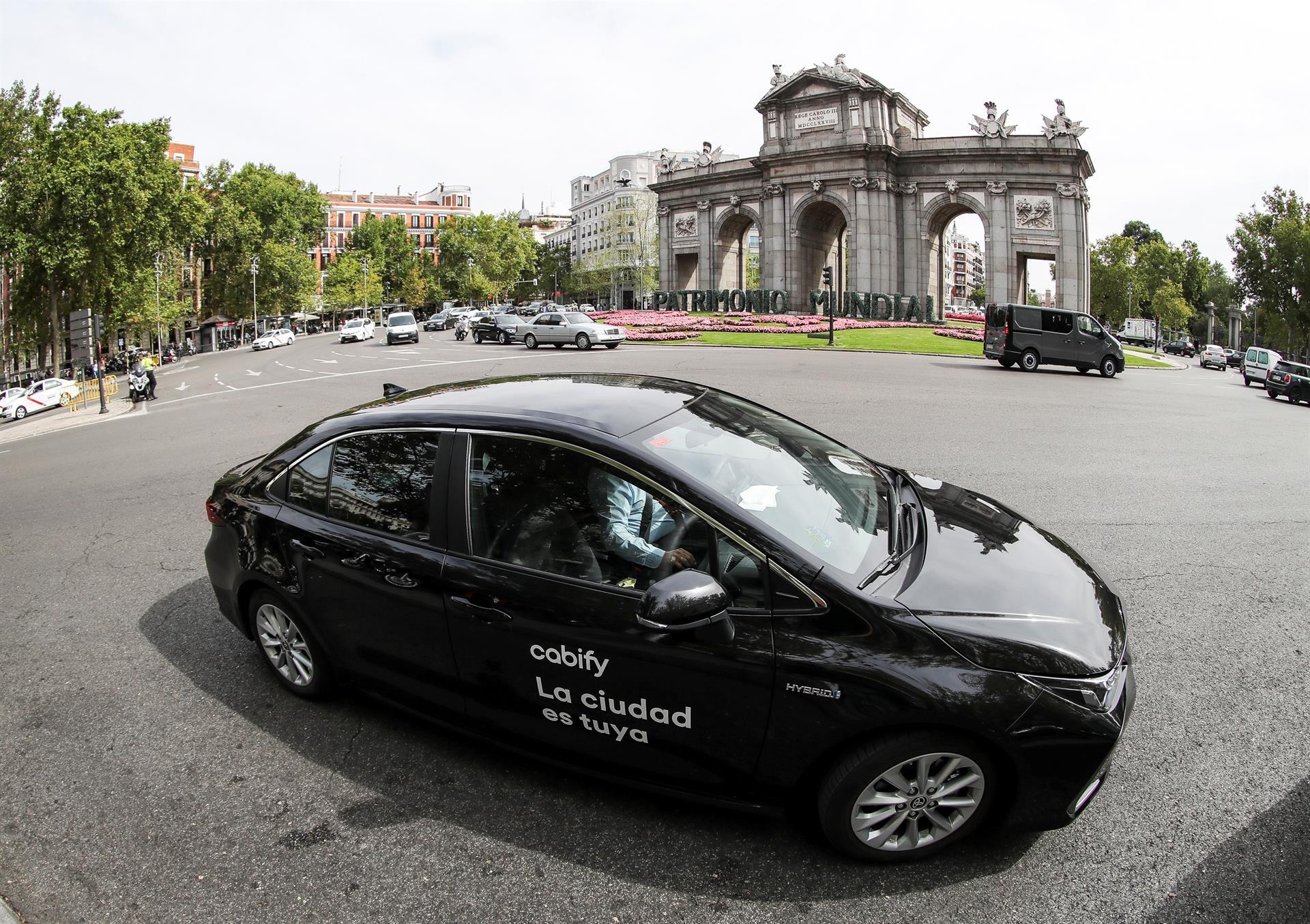 Madrid, 8 sep (EFE).- Cabify redefine su imagen de marca hacia la movilidad humana y sostenible. EFE/ MARISCAL