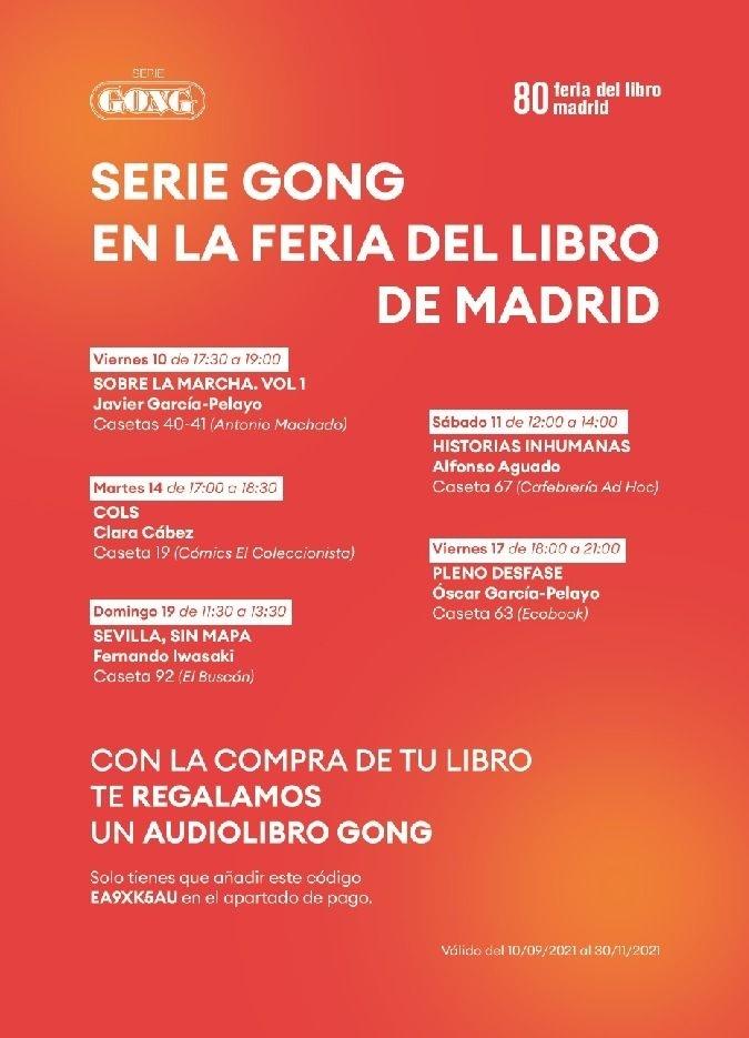 Los autores de Serie Gong firman ejemplares en la esperada Feria del Libro de Madrid.