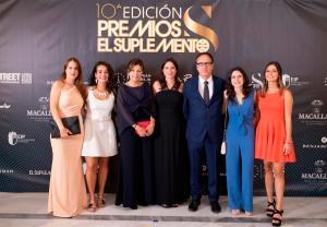 El Equipo de Wiohair acudiendo a la entrega de Premios El Suplemento.