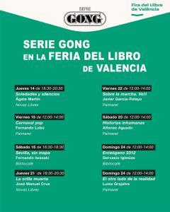 Ocho autores Serie Gong en la Feria del Libro de Valencia.