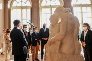 París, 15 oct (EFE).- Visita de la delegacion del gobierno de Tenerife al Museo Rodin en Paris. EFE/ Teresa Suárez